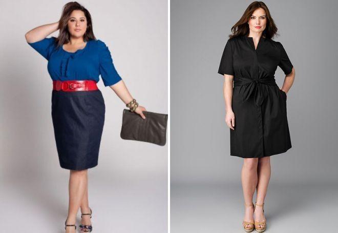 синяя юбка под синюю блузку черное офисное платье