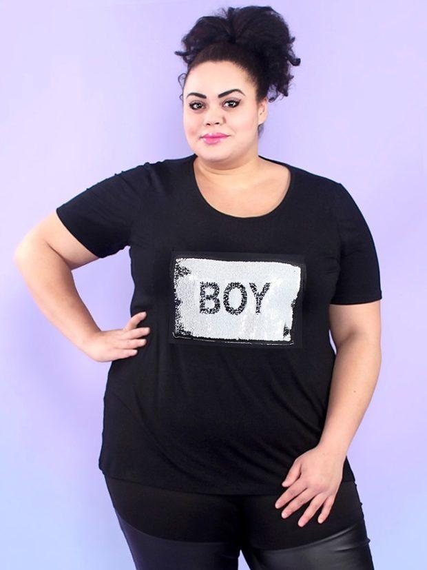 туника футболка черная с надписью
