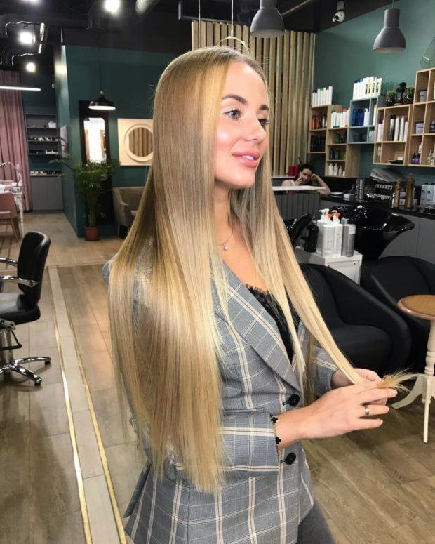 стрижки на длинные волосы 2019-2020: карамельные волосы