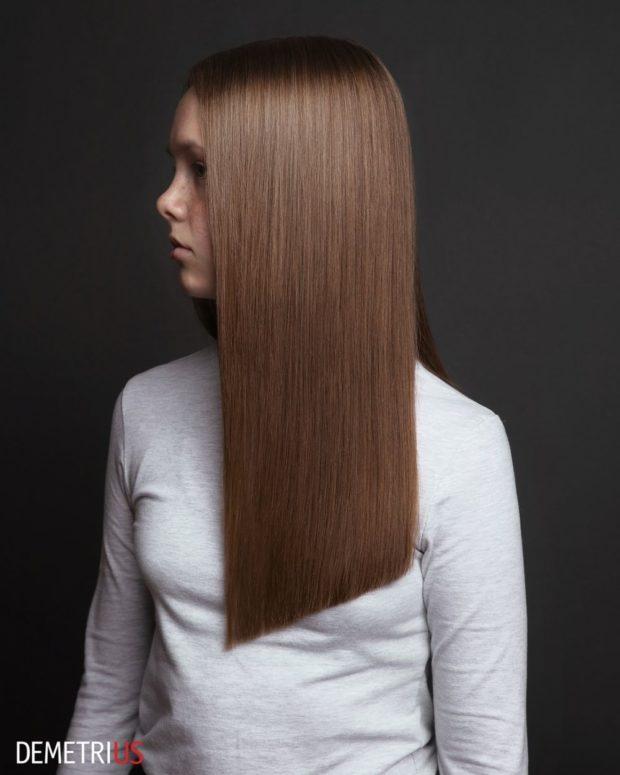 стрижки на длинные волосы 2019-2020: коричневые волосы