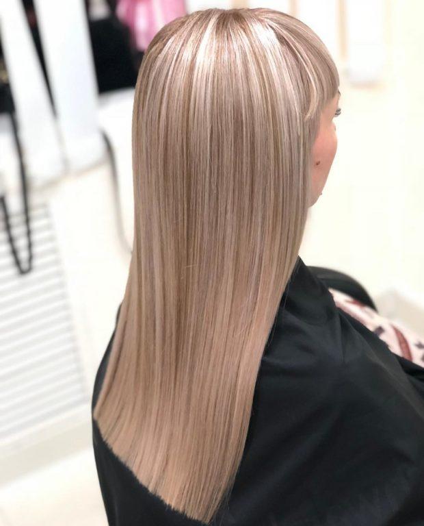 стрижки на длинные волосы 2019: ровная светлые волосы