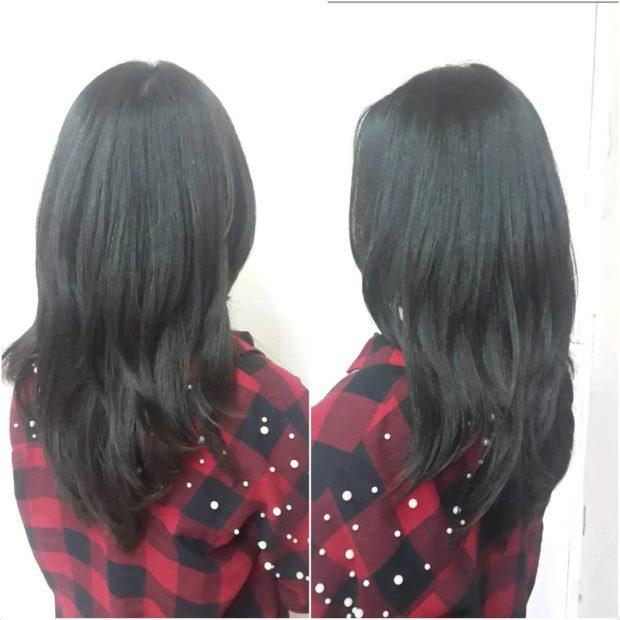 стрижки на длинные волосы 2020: волнистая для брюнетки