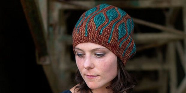 шапки вязаные женские осень зима: поперек