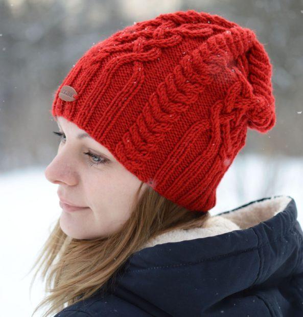 шапки вязаные женские осень зима 2018 2019: китайская красная