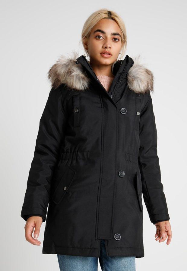 Модная зимняя куртка женская с мехом 2019-2020