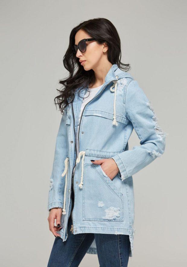зимние джинсовые куртки с мехом 2019-2020