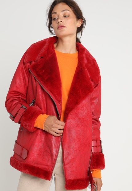 Женская зимняя куртка с экокожи 2018 2019