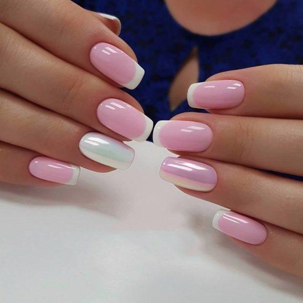 Красивые Ногти Френч Лаком Фото