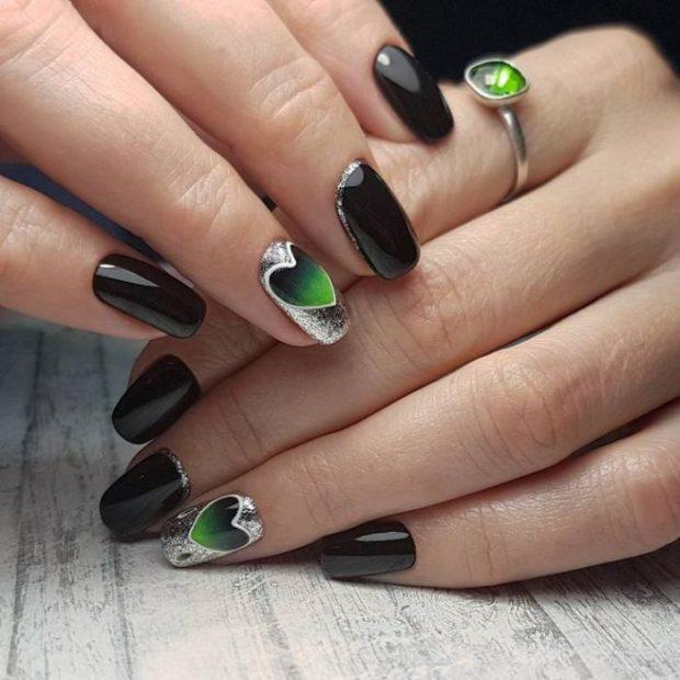 Маникюр на средние ногти