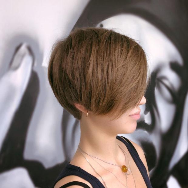 стрижка пикси: на средние волосы