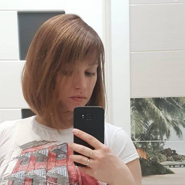 стрижка боб на длинные волосы: с челкой