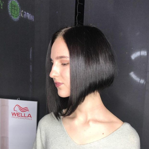 стрижка боб на длинные волосы