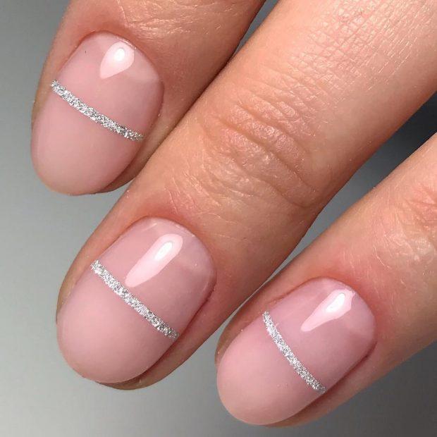 Дизайн ногтей гель лаком в нежных тонах