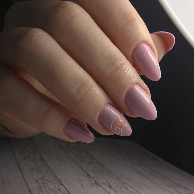 дизайн ногтей миндальной формы