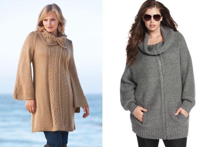 Вязанные пальто для женщин полных женщин