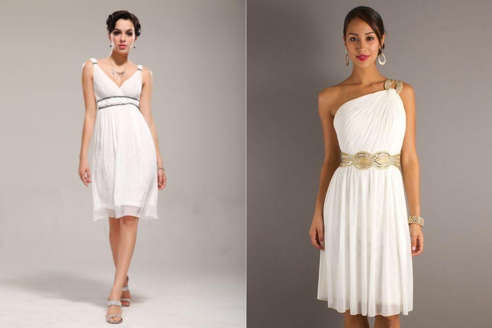 Платья до колена в греческом стиле