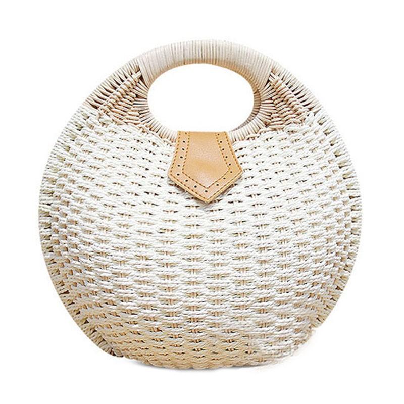 Плетеная круглая сумка