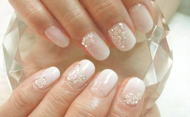 Маникюр на коротких ногтях свадебный своими руками 69